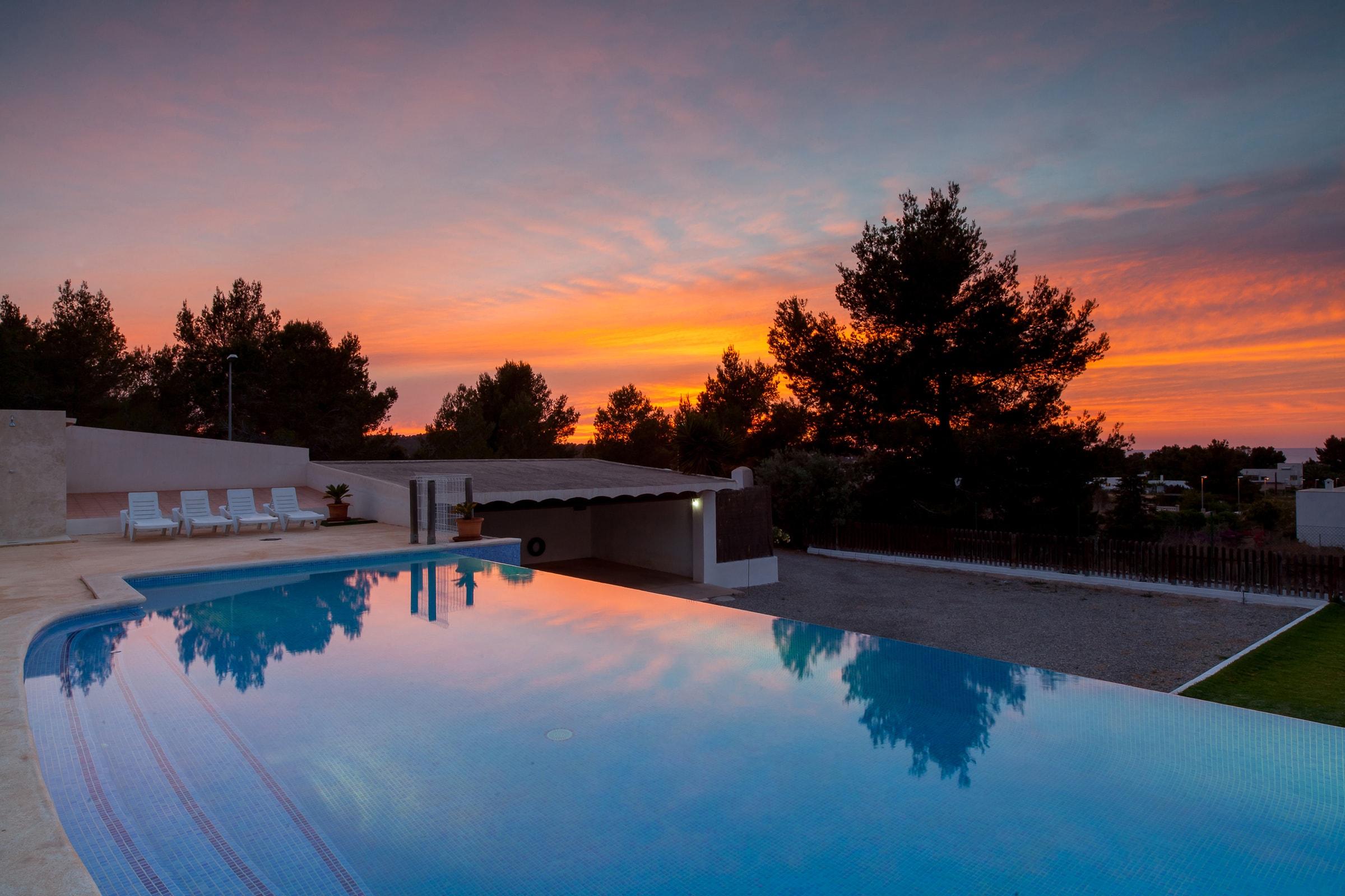 sunset villa ibiza