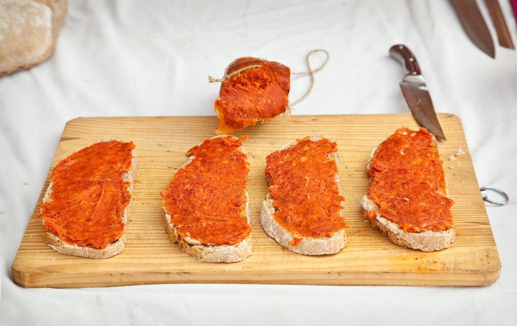 Balearic sausages sobrassada and botifarra
