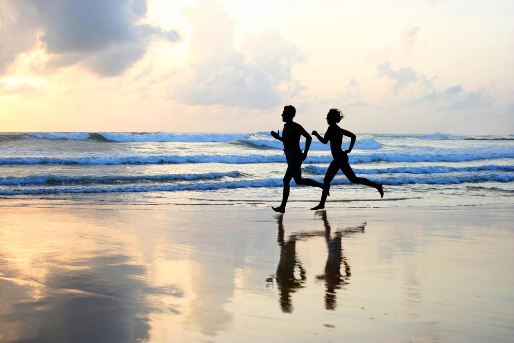 beach running ibiza