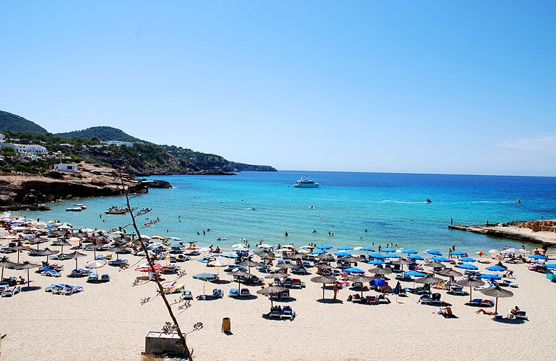 Cala Tarida beach