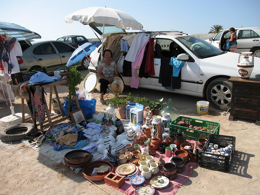 traditional market in spain, ibiza