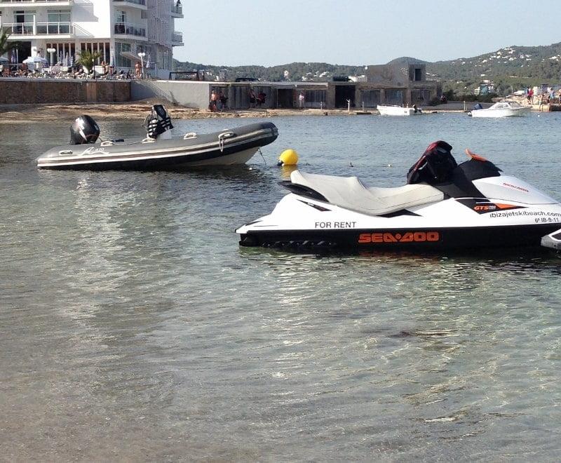 Jet ski Ibiza Xinxo beach