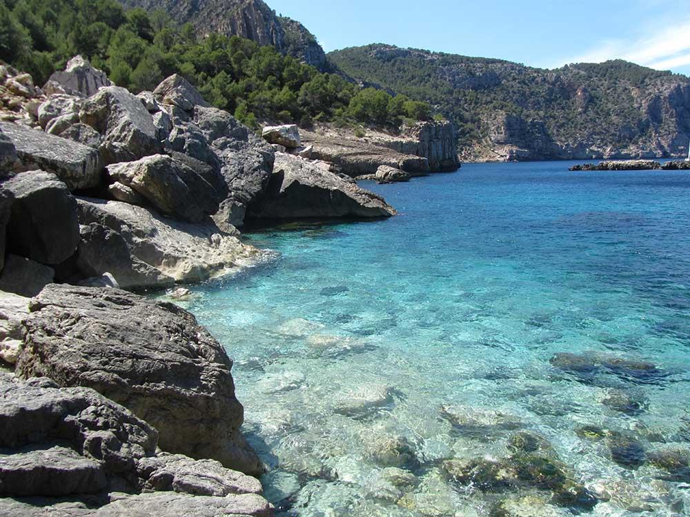 Cala Aubarca Ibiza by boat