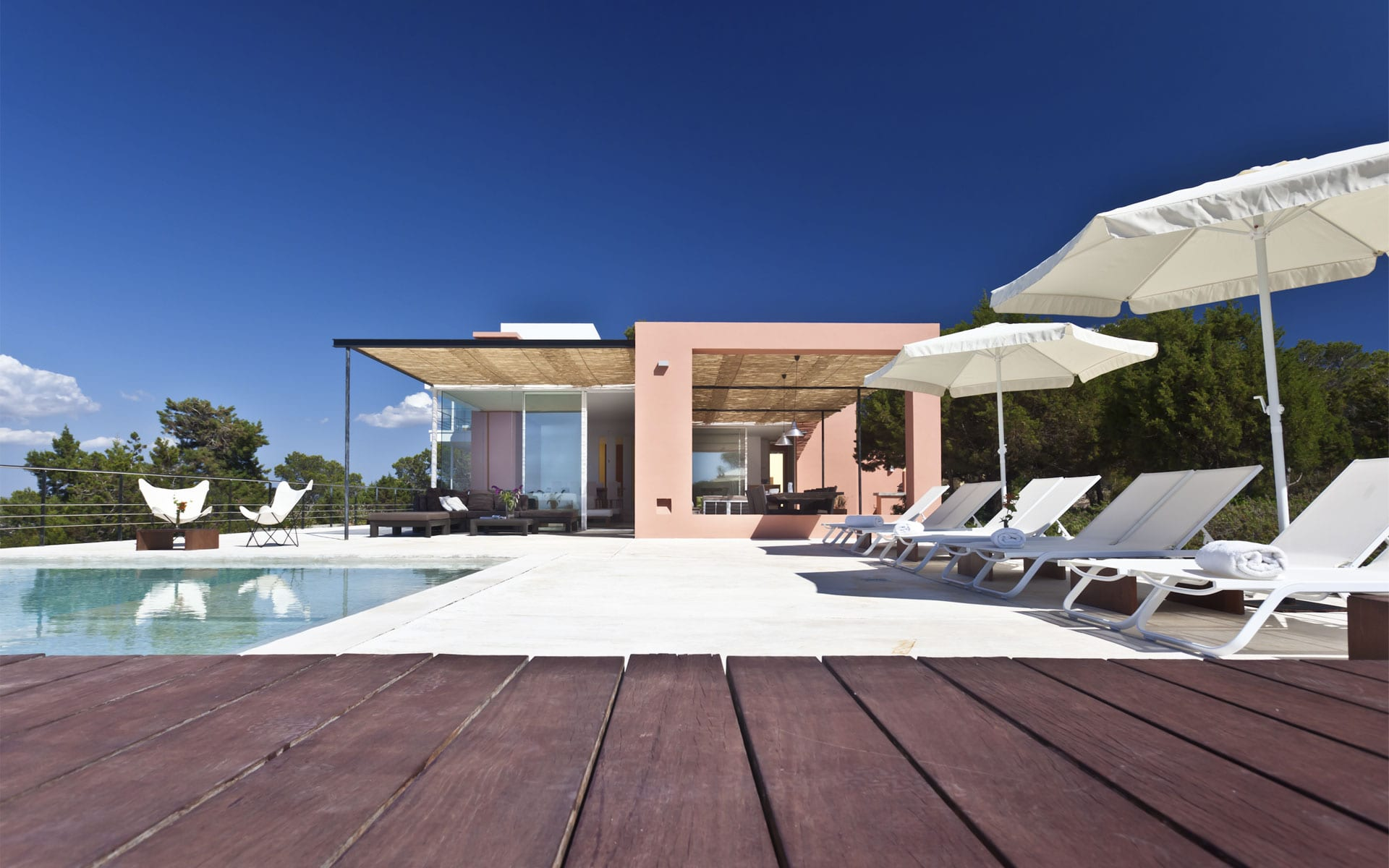 General view luxury villa in Ibiza
