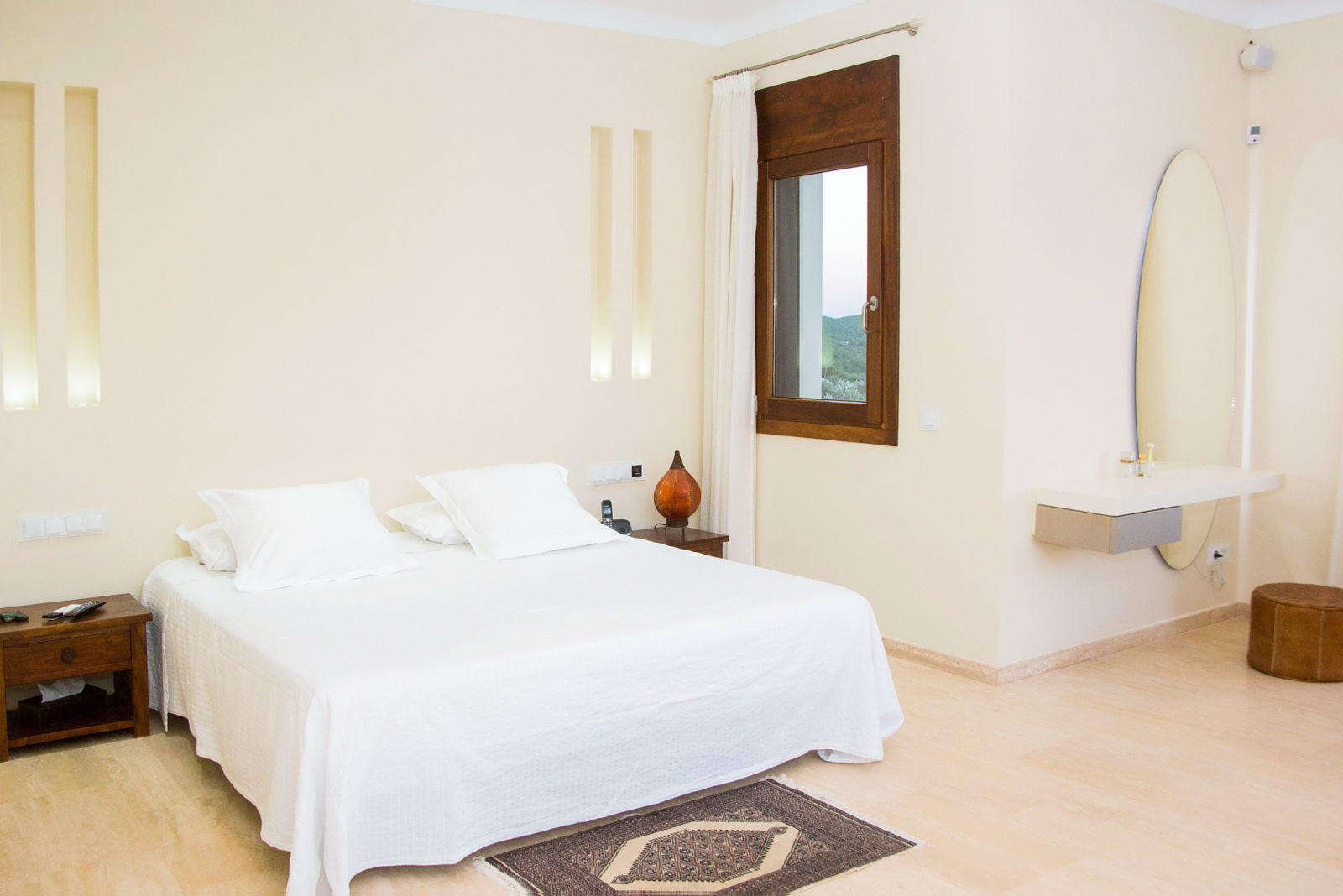 Bedroom in Ibizan luxury villa