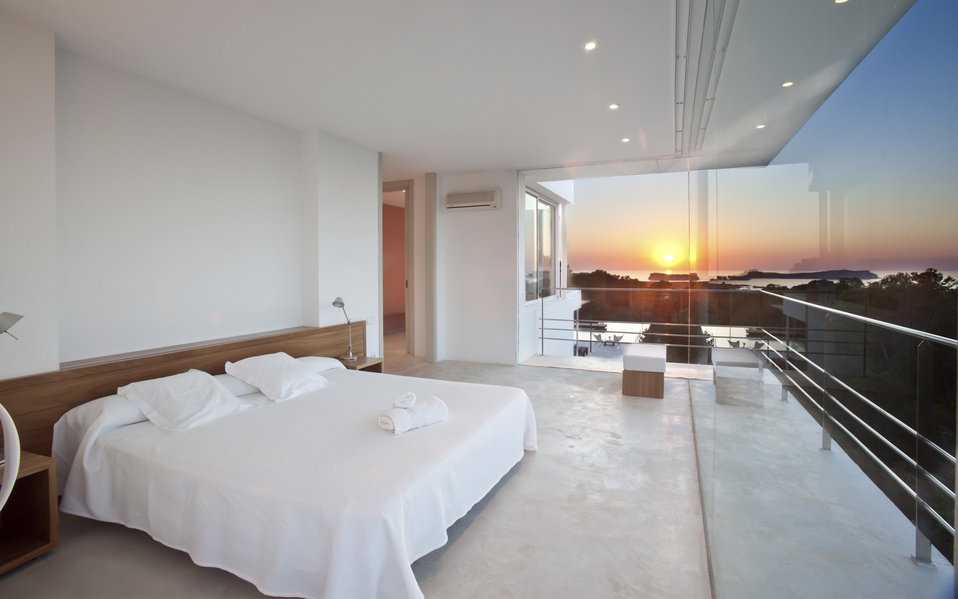 Bedroom luxury villa Ibiza