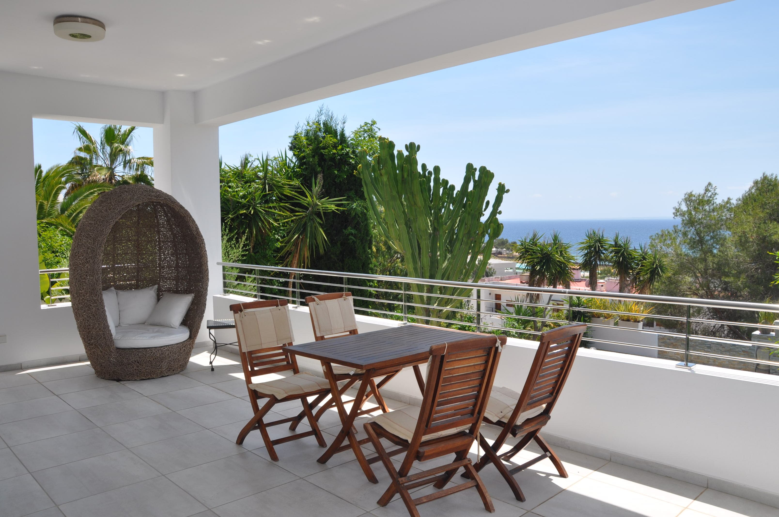 Terrace luxury villa Ibiza