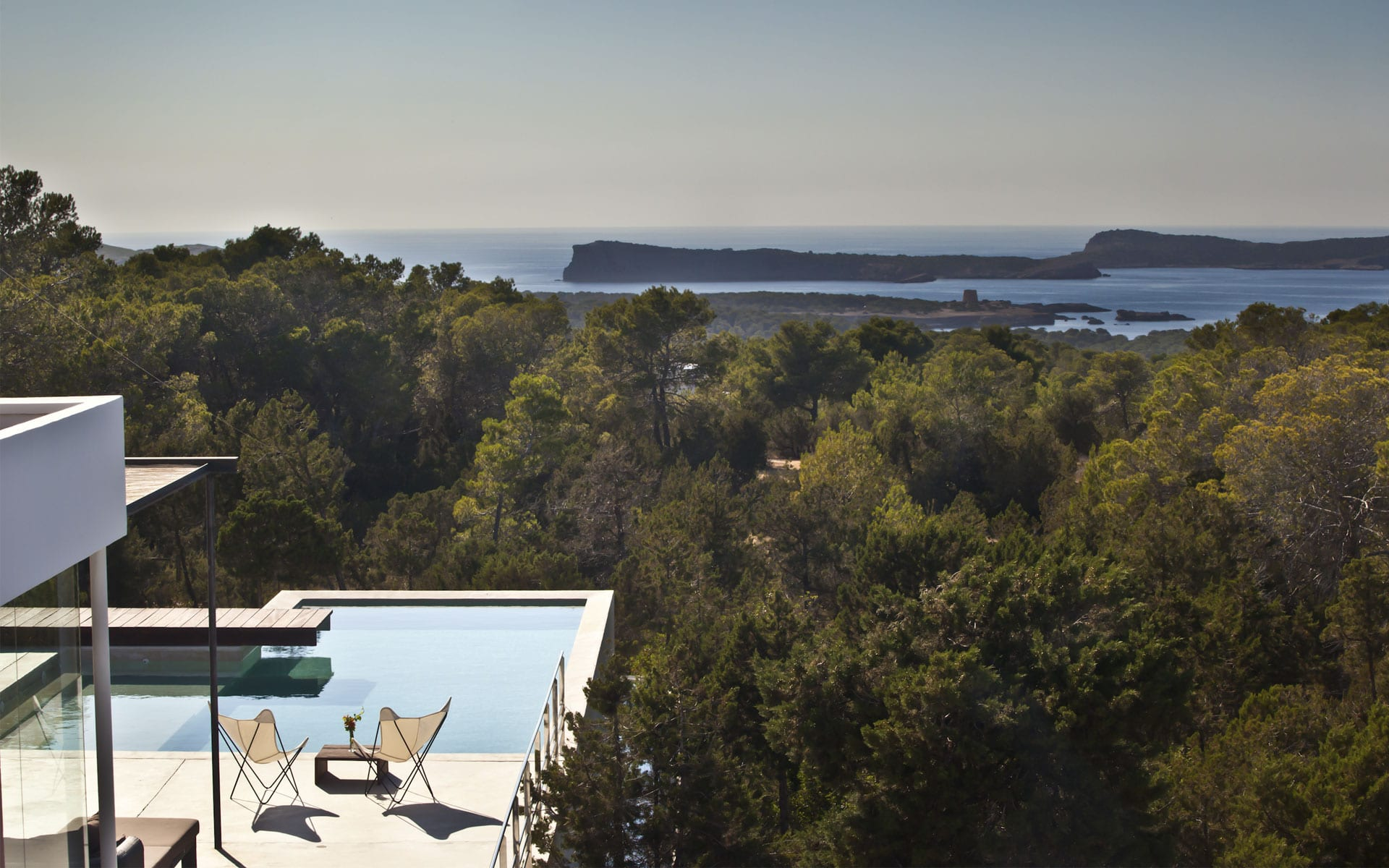 Views from luxury villa in Ibiza