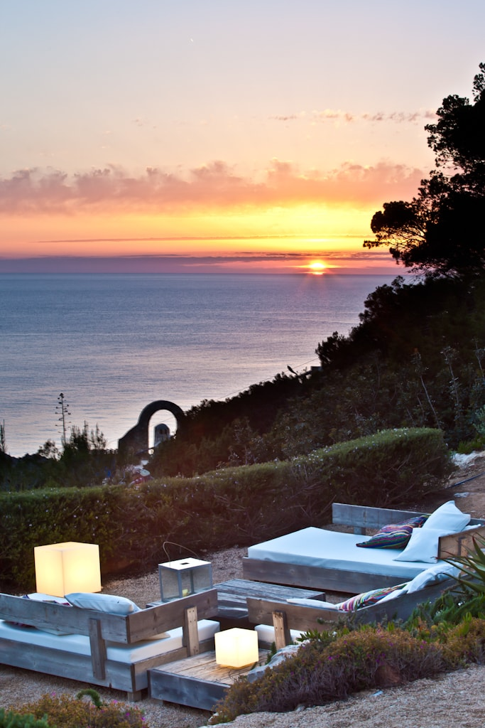 sunset in luxury villa in Ibiza