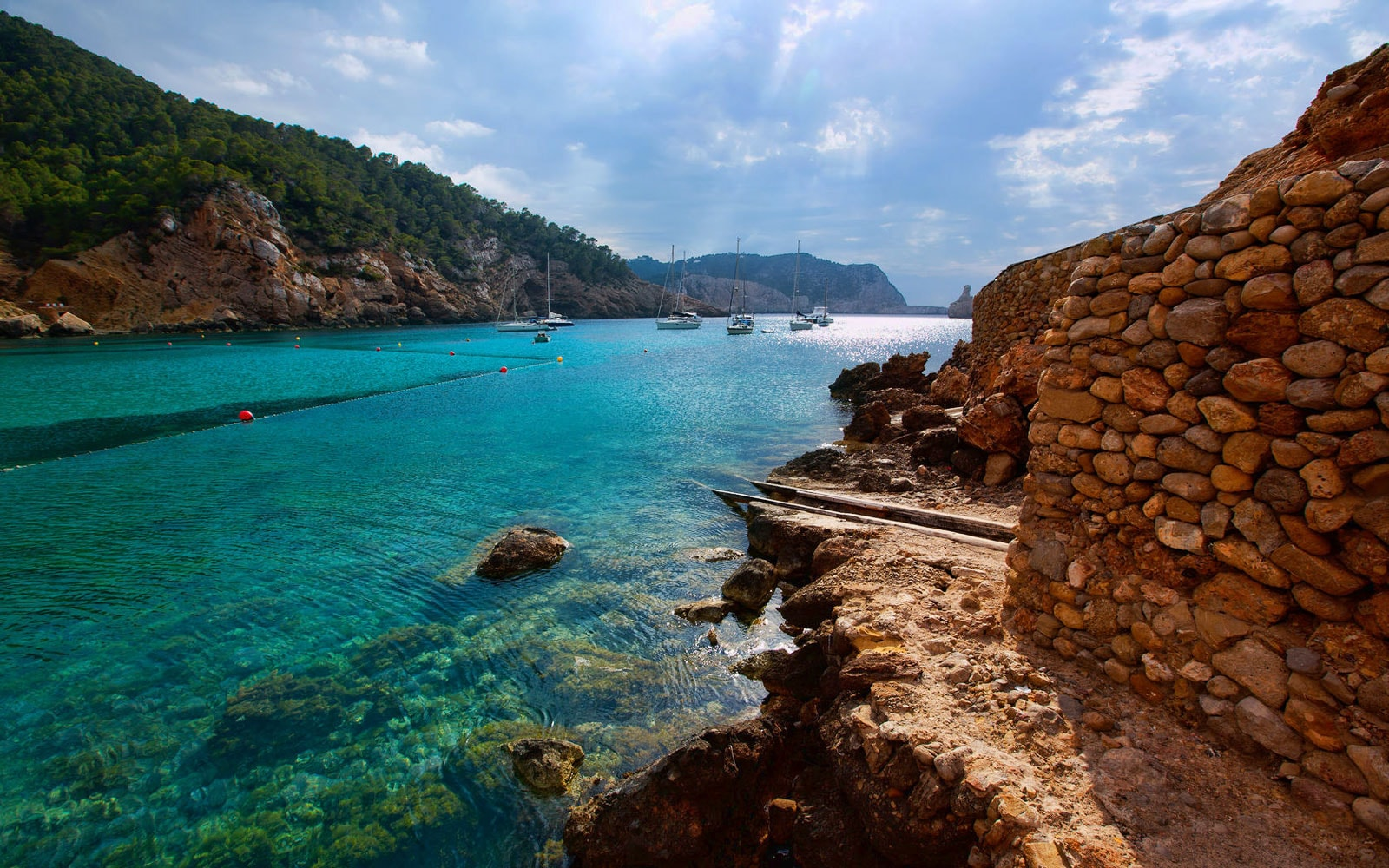 photo benirra beach in ibiza