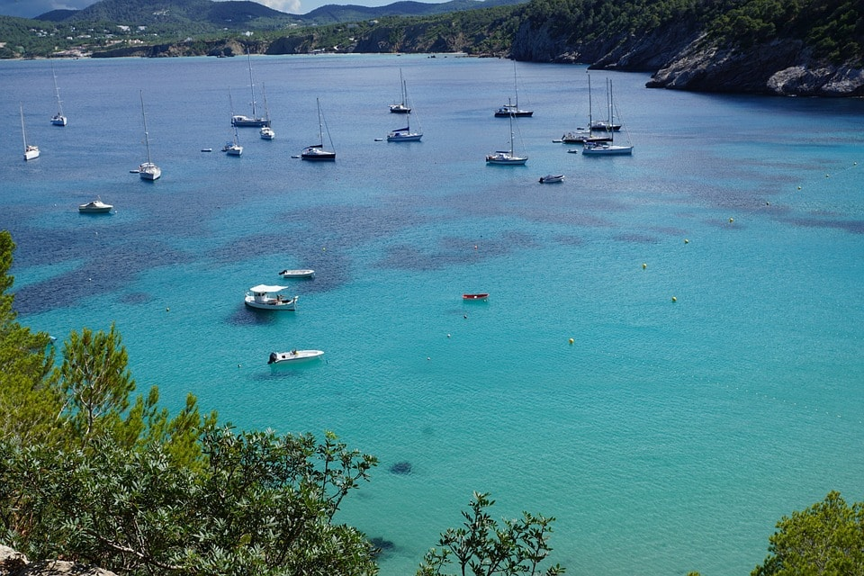 beautiful cala in ibiza