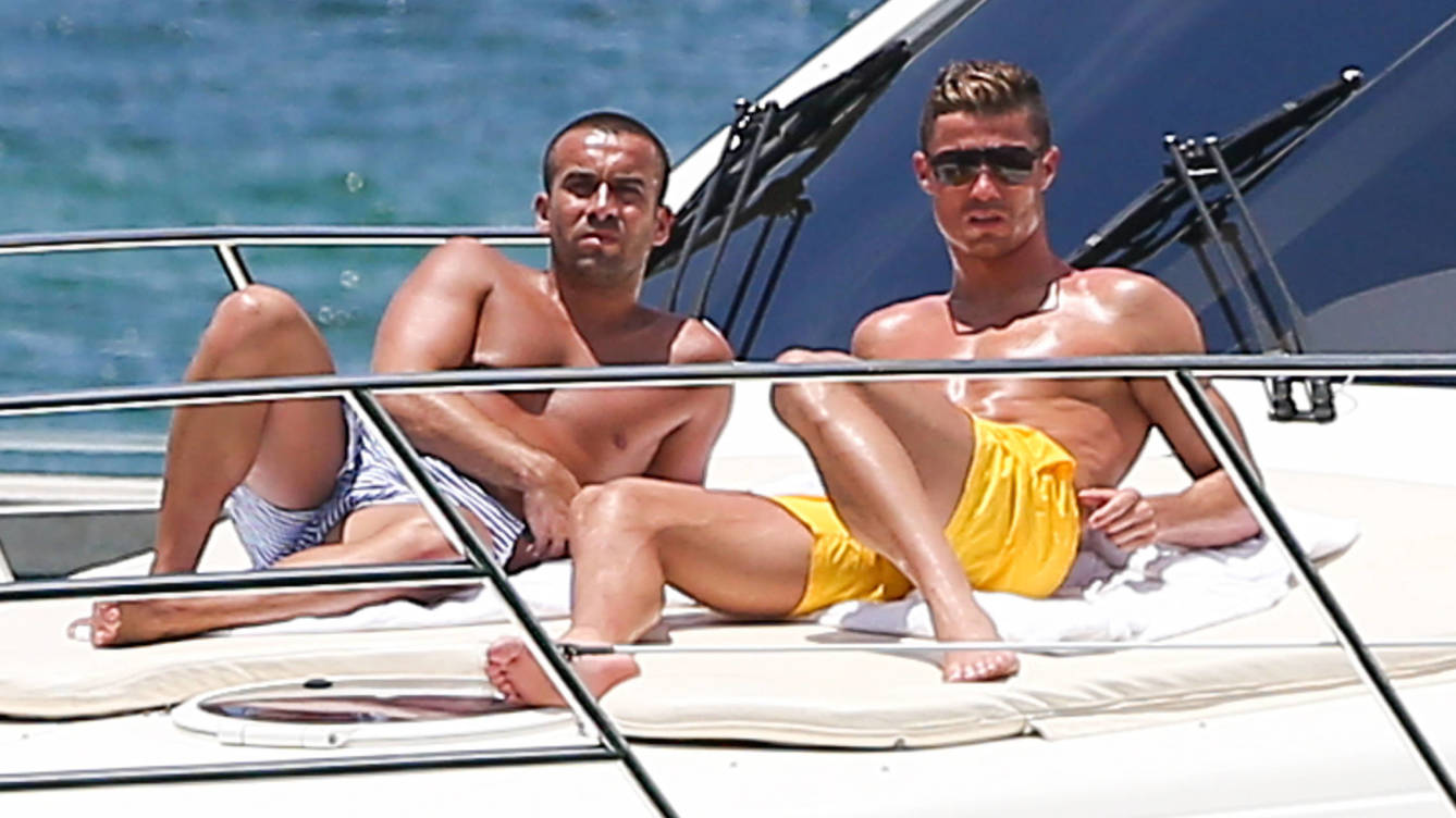 Cristiano Ronaldo summer holiday in ibiza