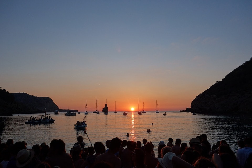 Cala Benirras or Benirras Beach sunset