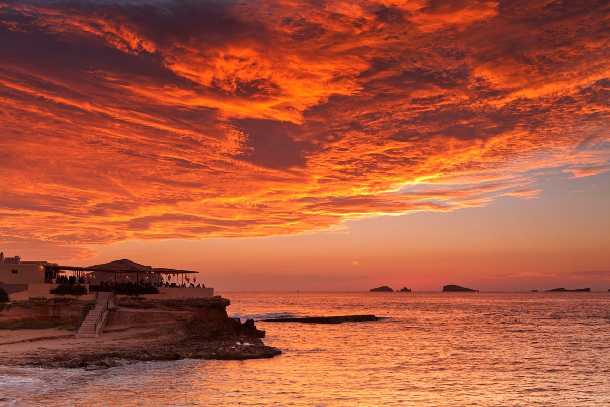 Cala Conta Beach sunset