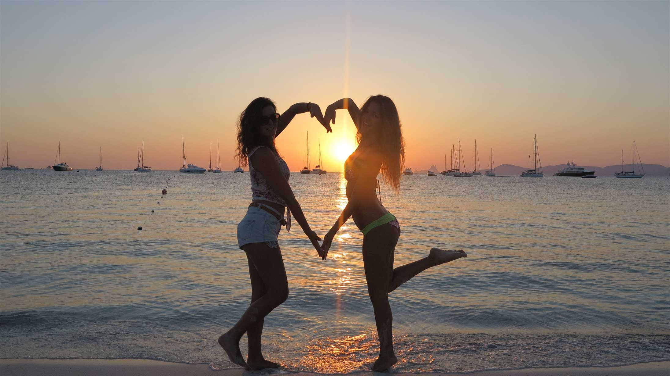 sunset love in ibiza