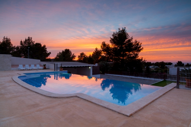 villa rental ibiza with sunset
