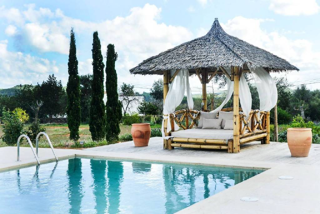 Villa Bassa beach in Ibiza