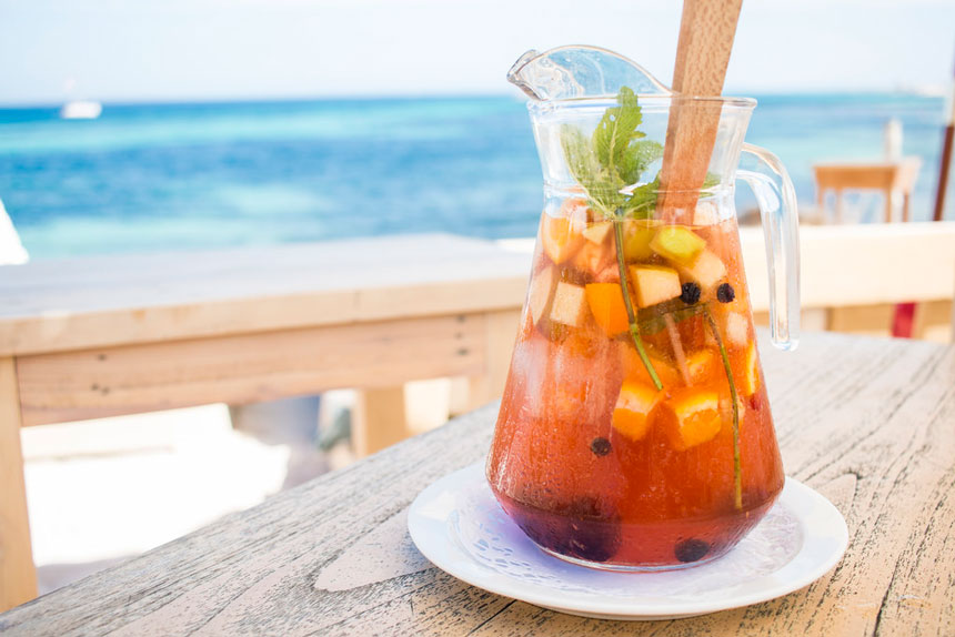 Sangria drink from Ibiza
