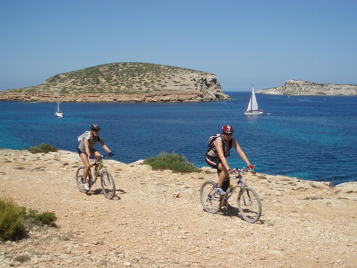 Explore the mountain bike trails on Ibiza