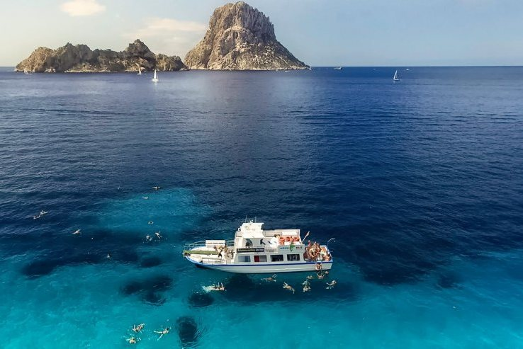 Explore Ibiza on an adventurous boat trip tour.