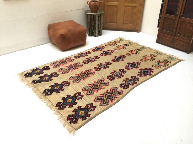 Moroccan dyed rug