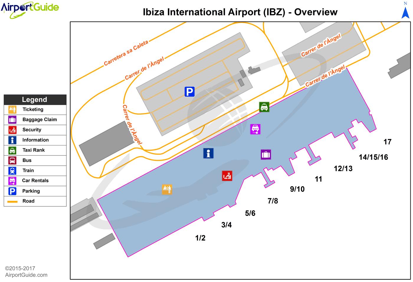 ibiza airport map