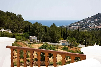 general view around the rental house of Ibiza