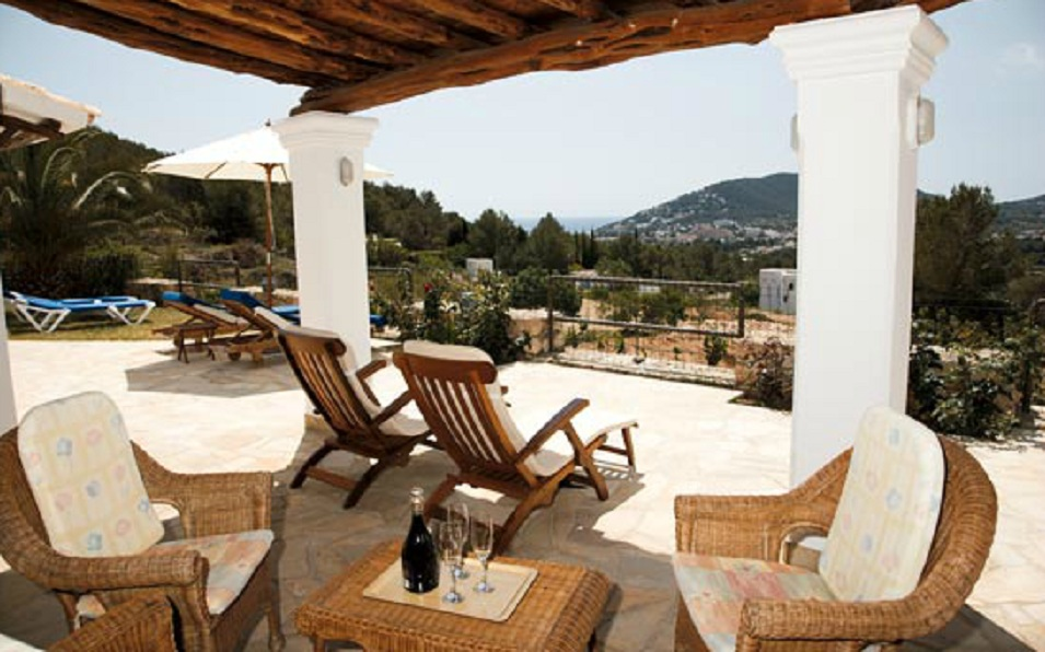 Views of the entrace from a rental house in Ibiza