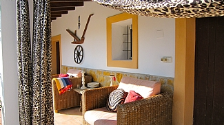 Terrace of a house in Ibiza