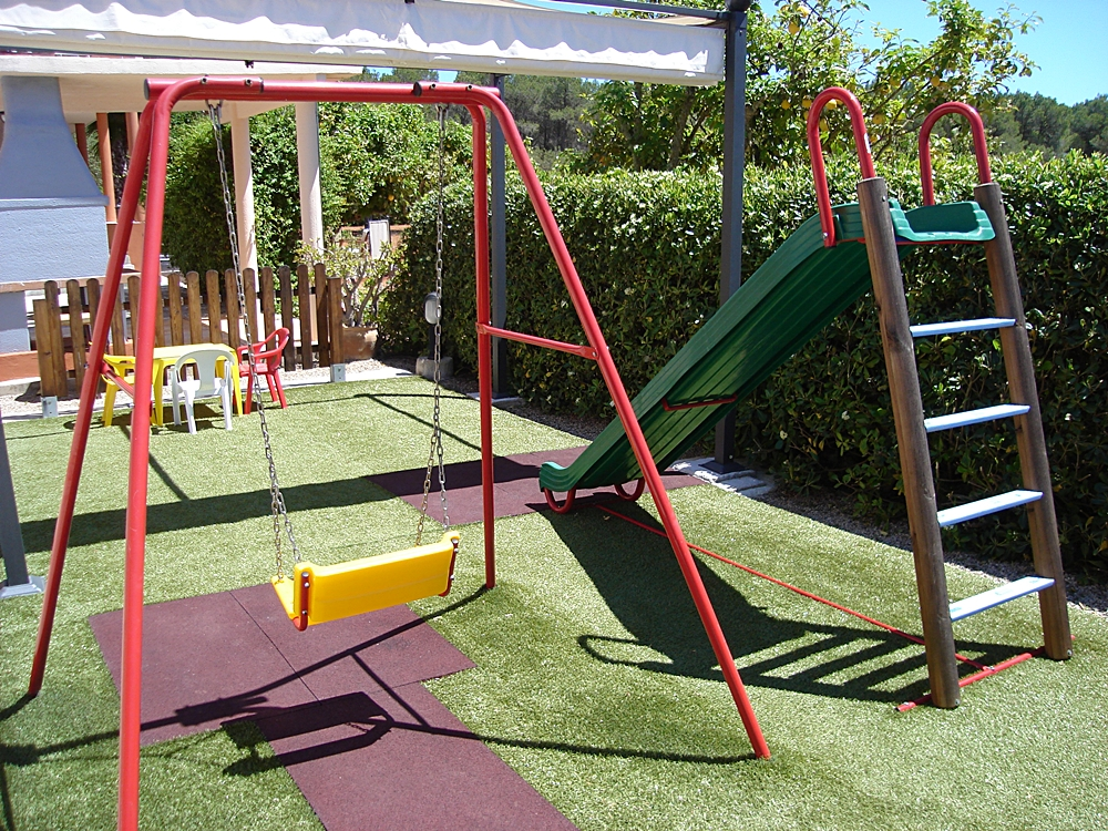 Children's area with swings