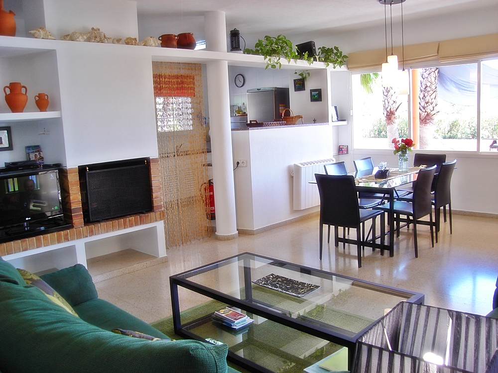 interior living room of a rental house in ibiza