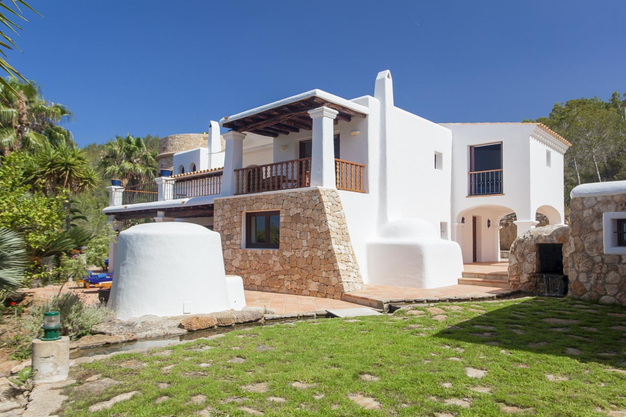 Ibiza style house in natural surroundings with terrace garden and pool area