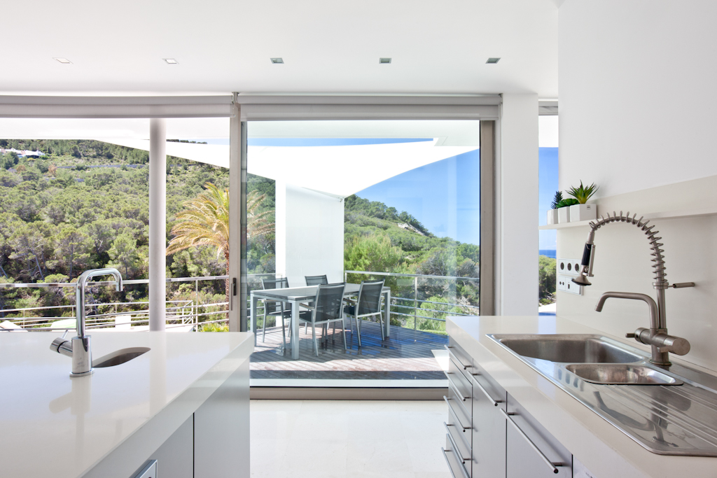 Kitchen in a rental house of Ibiza