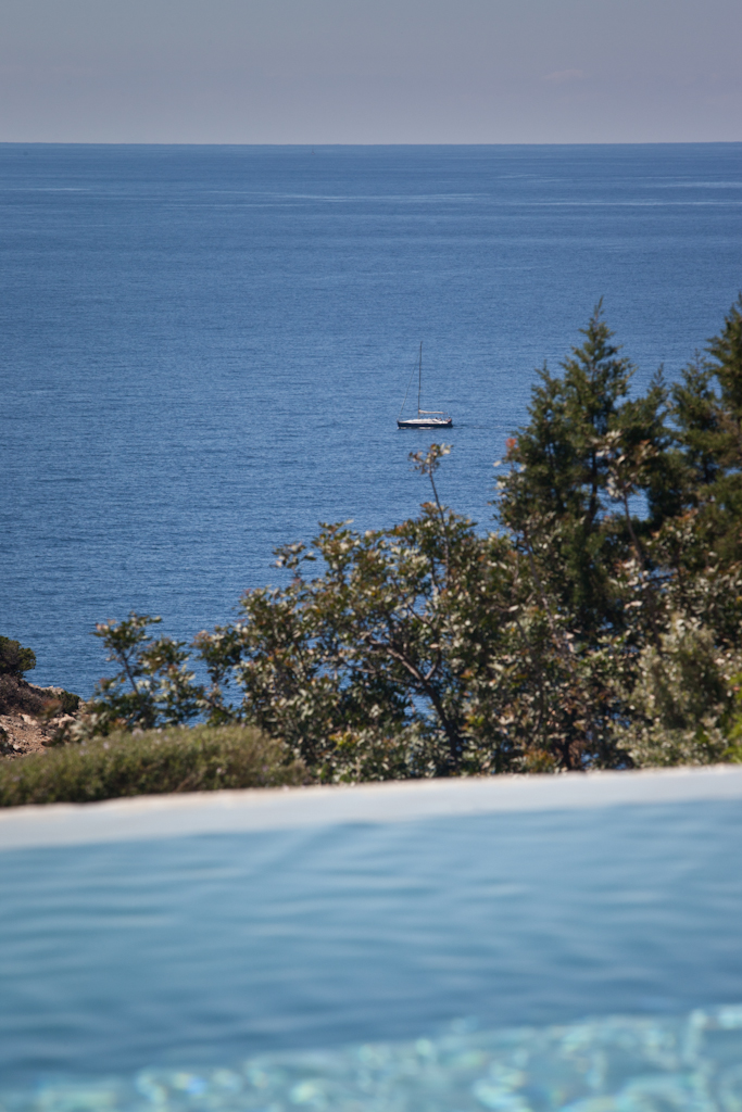 Views from the pool of the rental house in Ibiza