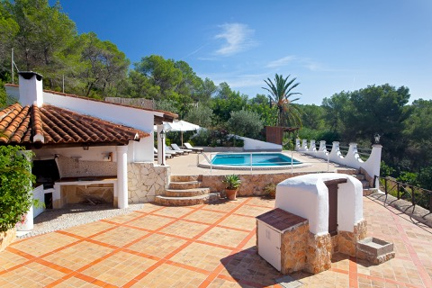cute rental villa in ibiza