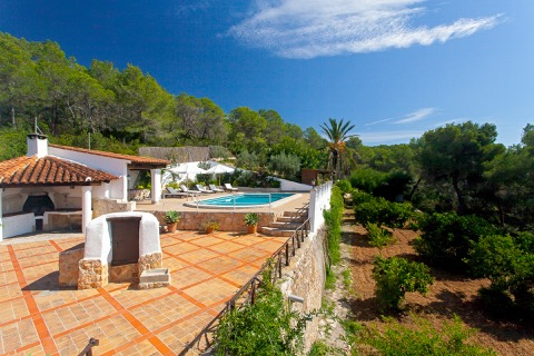 rental villa roof with views in ibiza