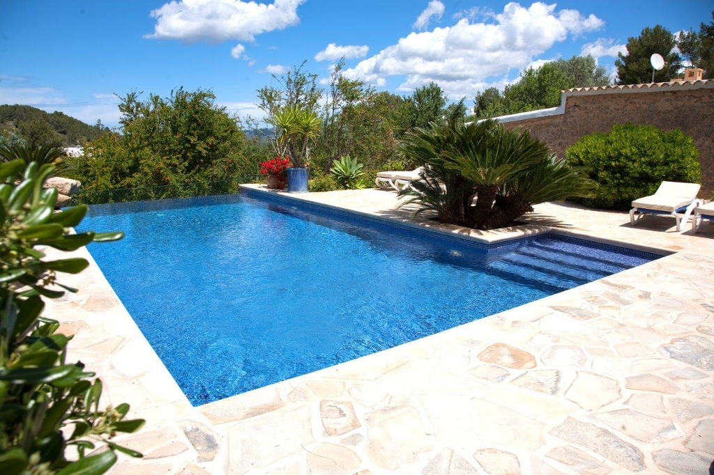 Pool zone in a rental house of Ibiza