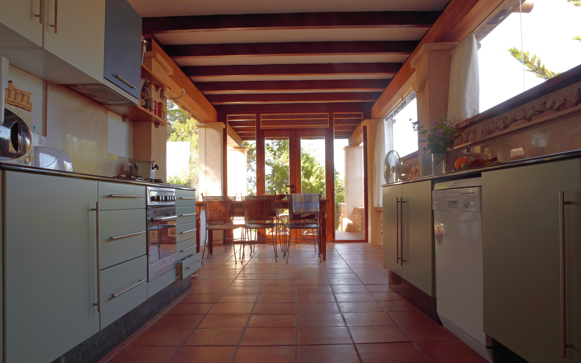 Kitchen in a house of Ibiza