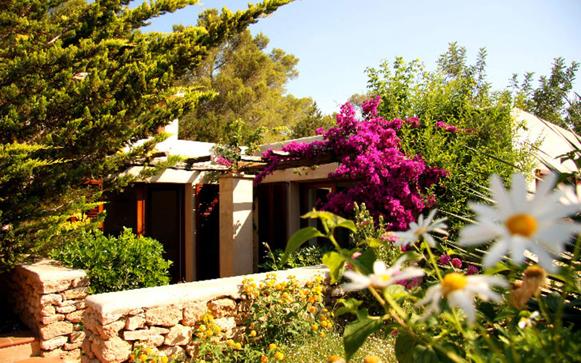 general view of a rental house in ibiza