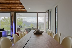 Dining table in a house of Ibiza