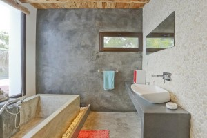 Grey bathroom in a house of Ibiza
