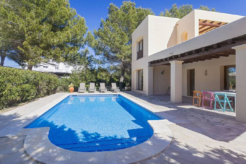 cute villa for holiday rental in ibiza with pool